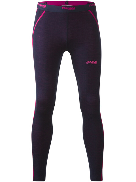 Bergans Youth Akeleie Tights Navy/Hot Pink